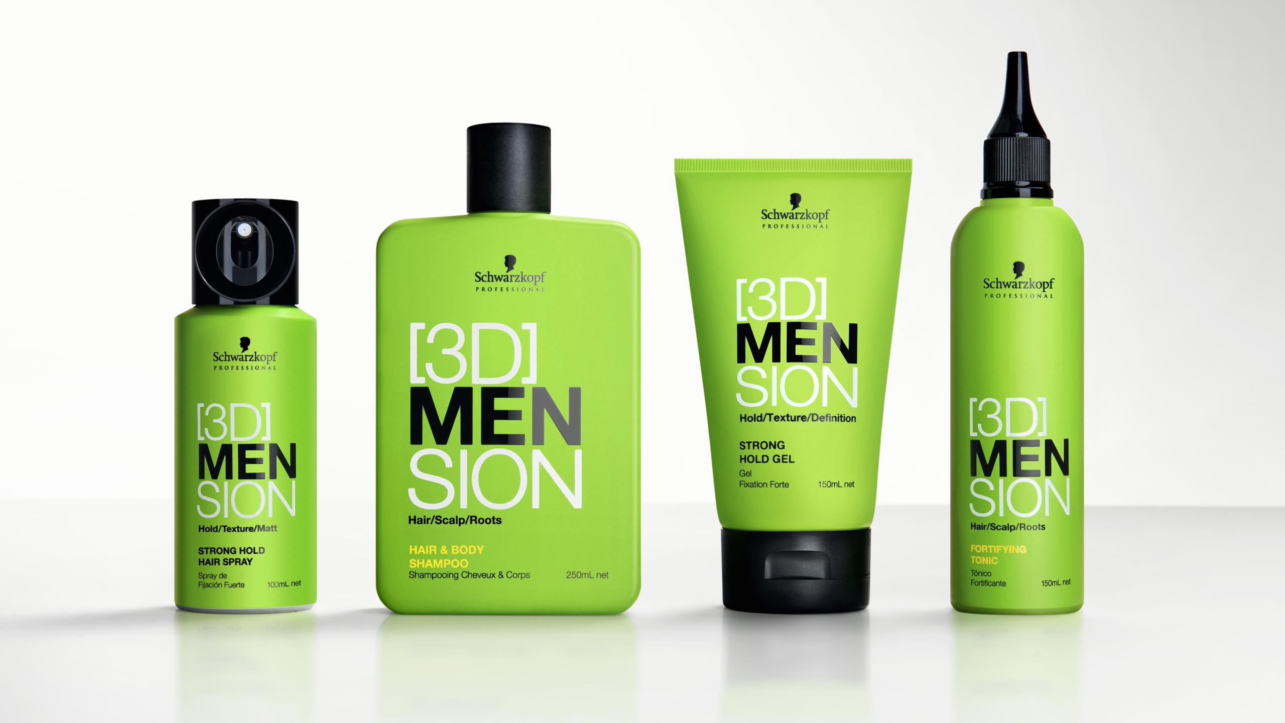 branding and packaging design 3D MENsion Schwarzopf Professional