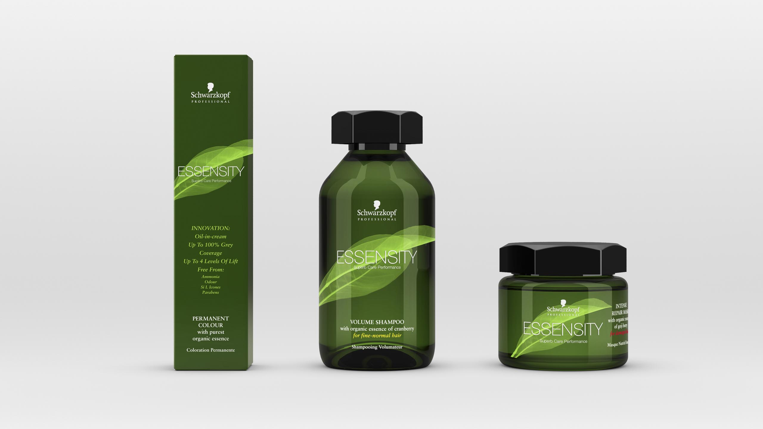 brand design study for Schwarzopf Professional