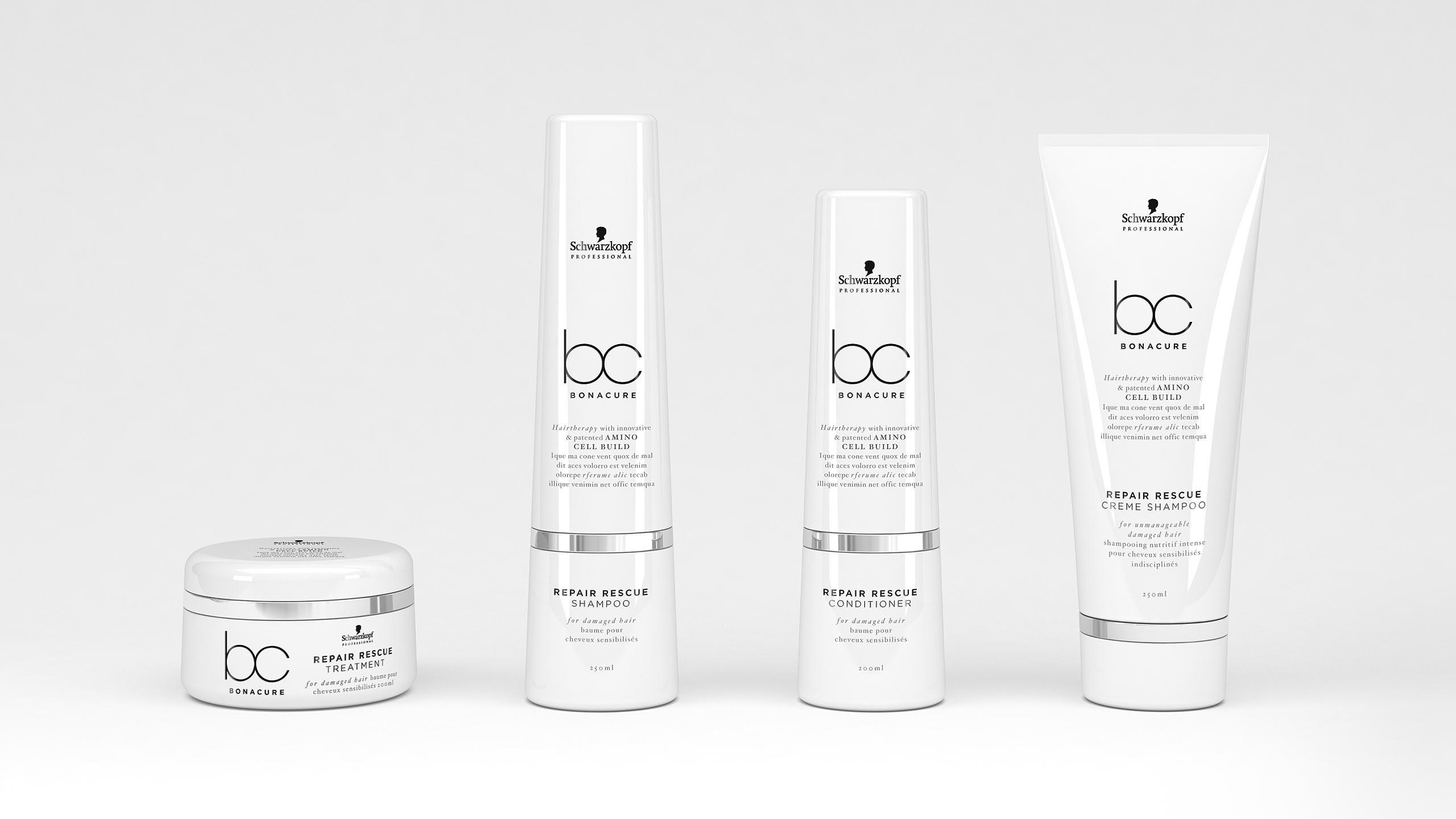 brand design of BC Bonacure for Schwarzopf Professional