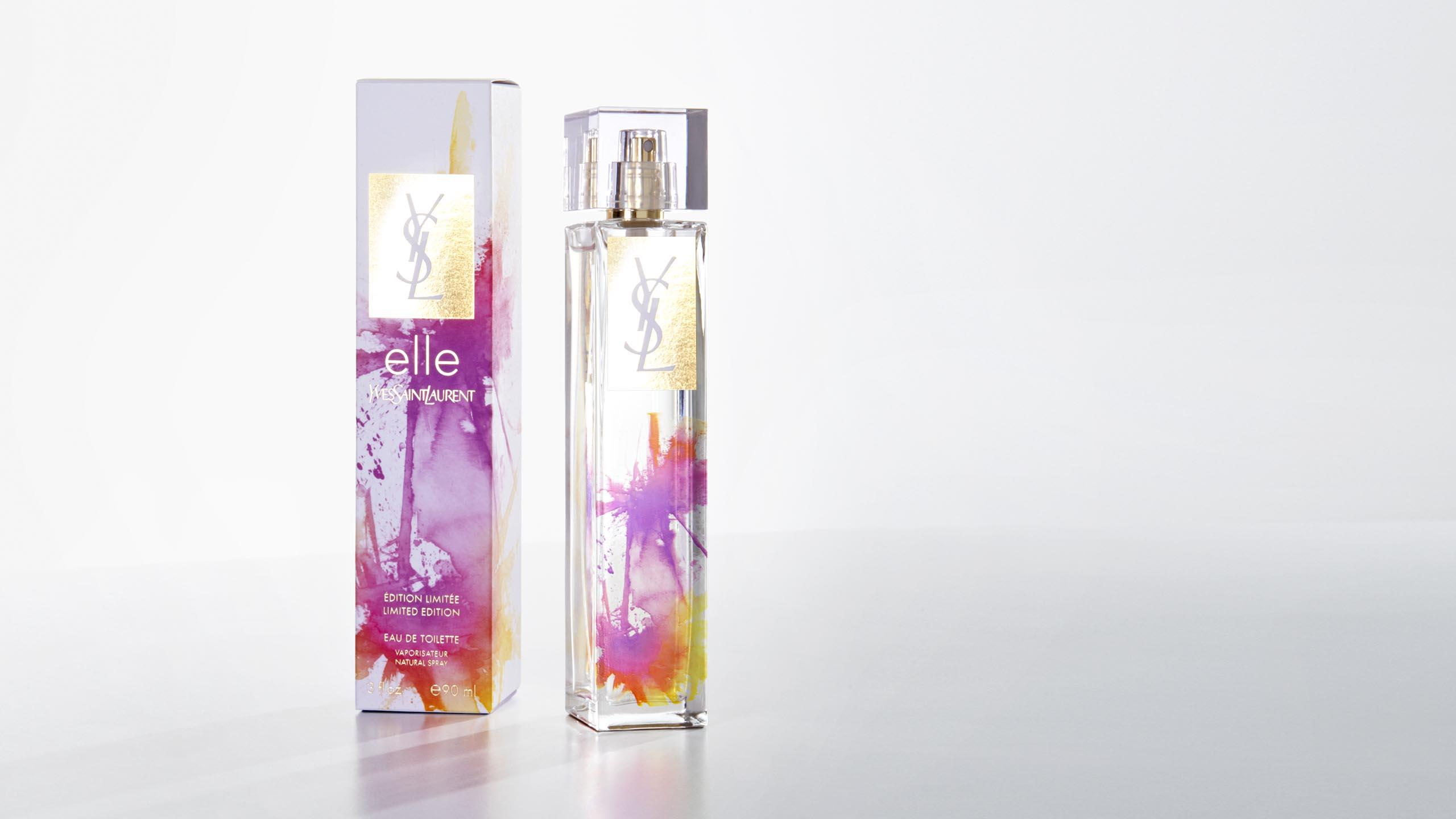 Yves Saint Laurent, YSL, Elle Splash, perfume, packaging design