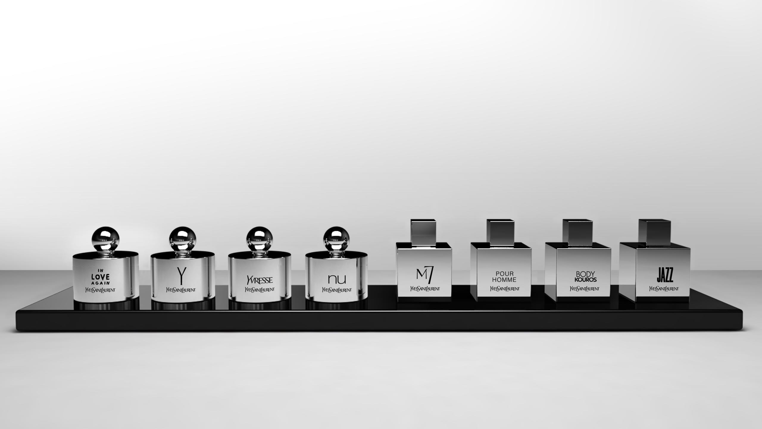 Yves Saint Laurent, YSL, La Collection YSL, perfume, packaging design