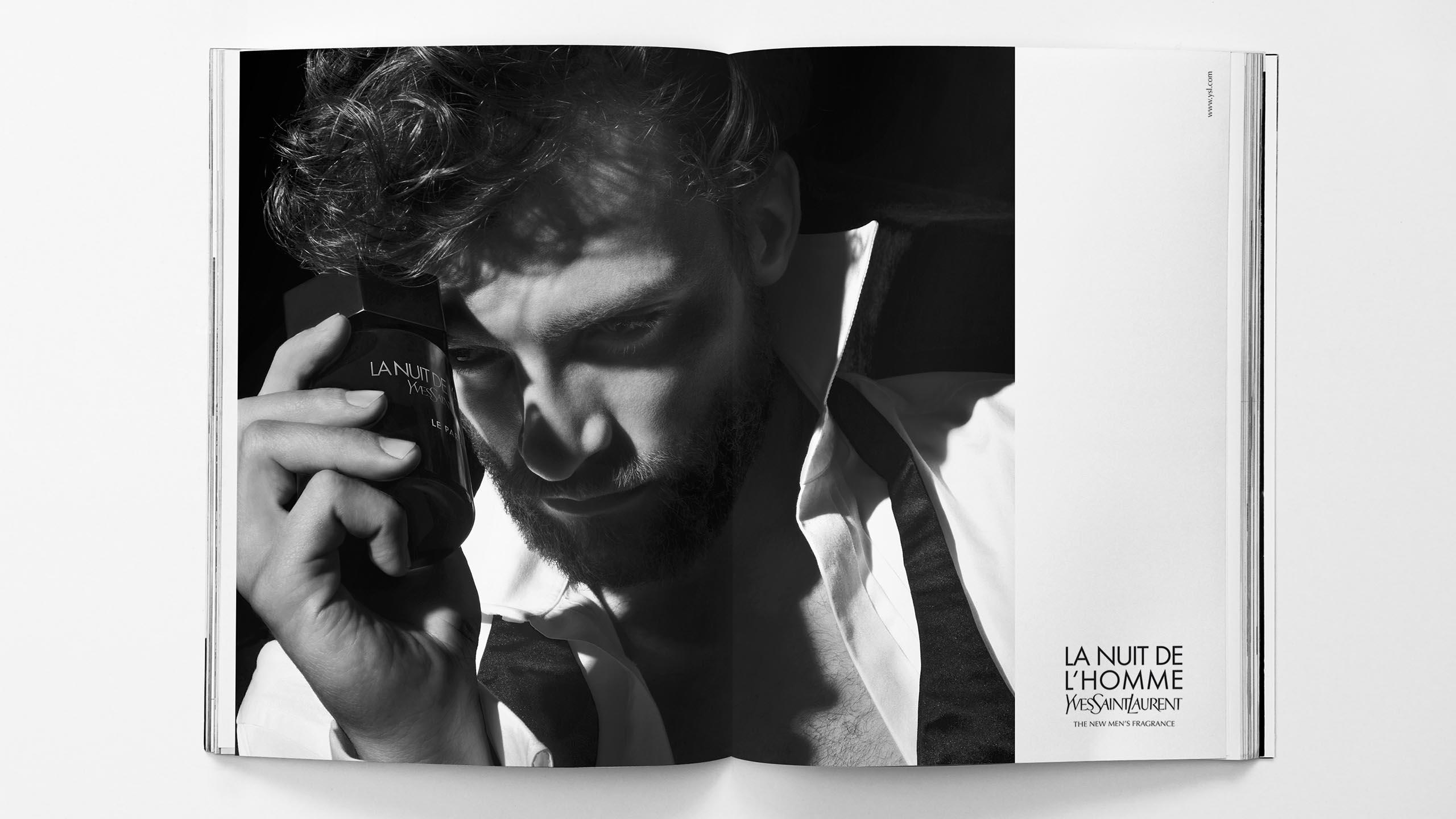 Study for a campaign visual for YSL's La Nuit de l'Homme