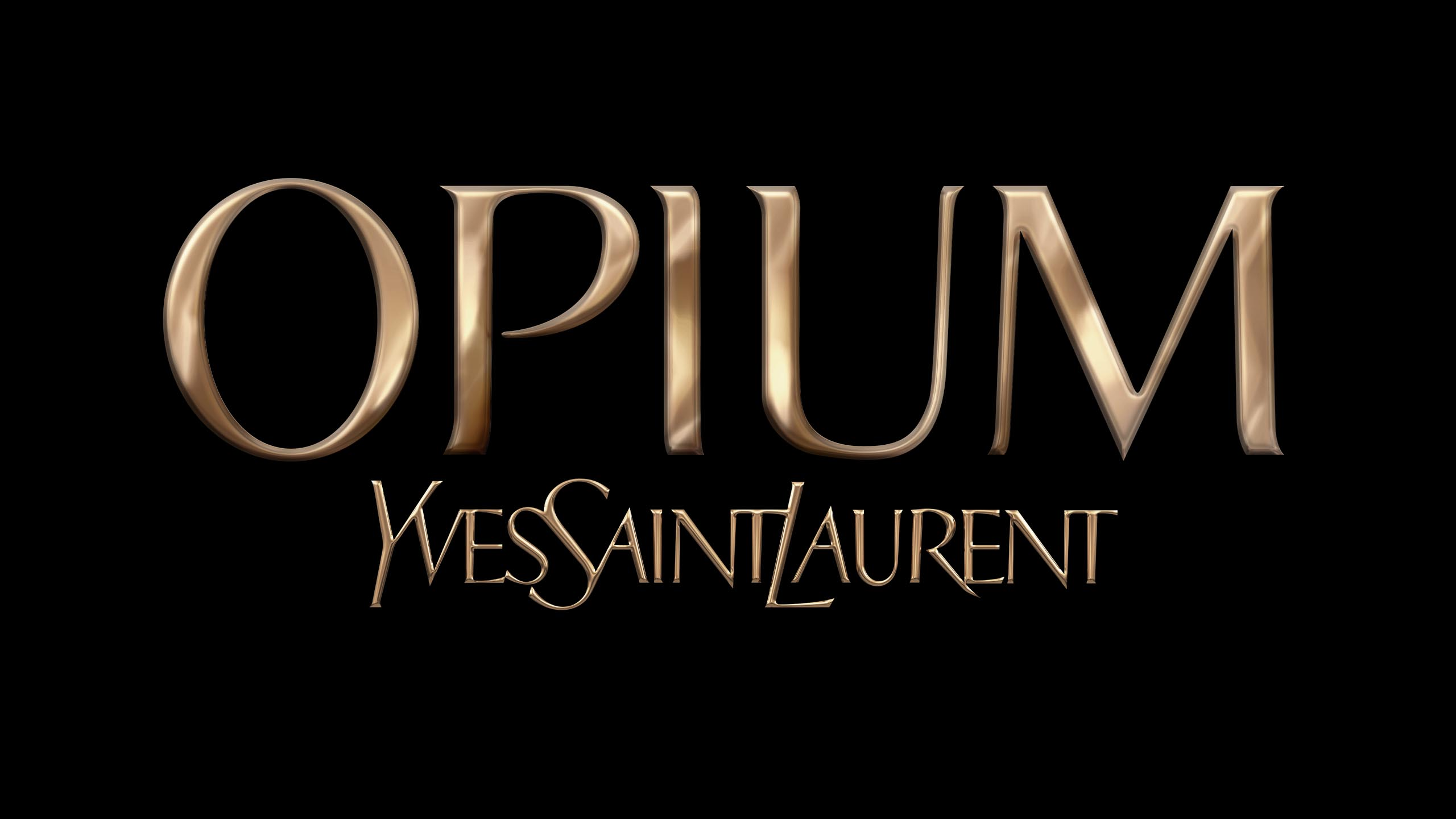 3D-logo for Yves Saint Laurent's Opium