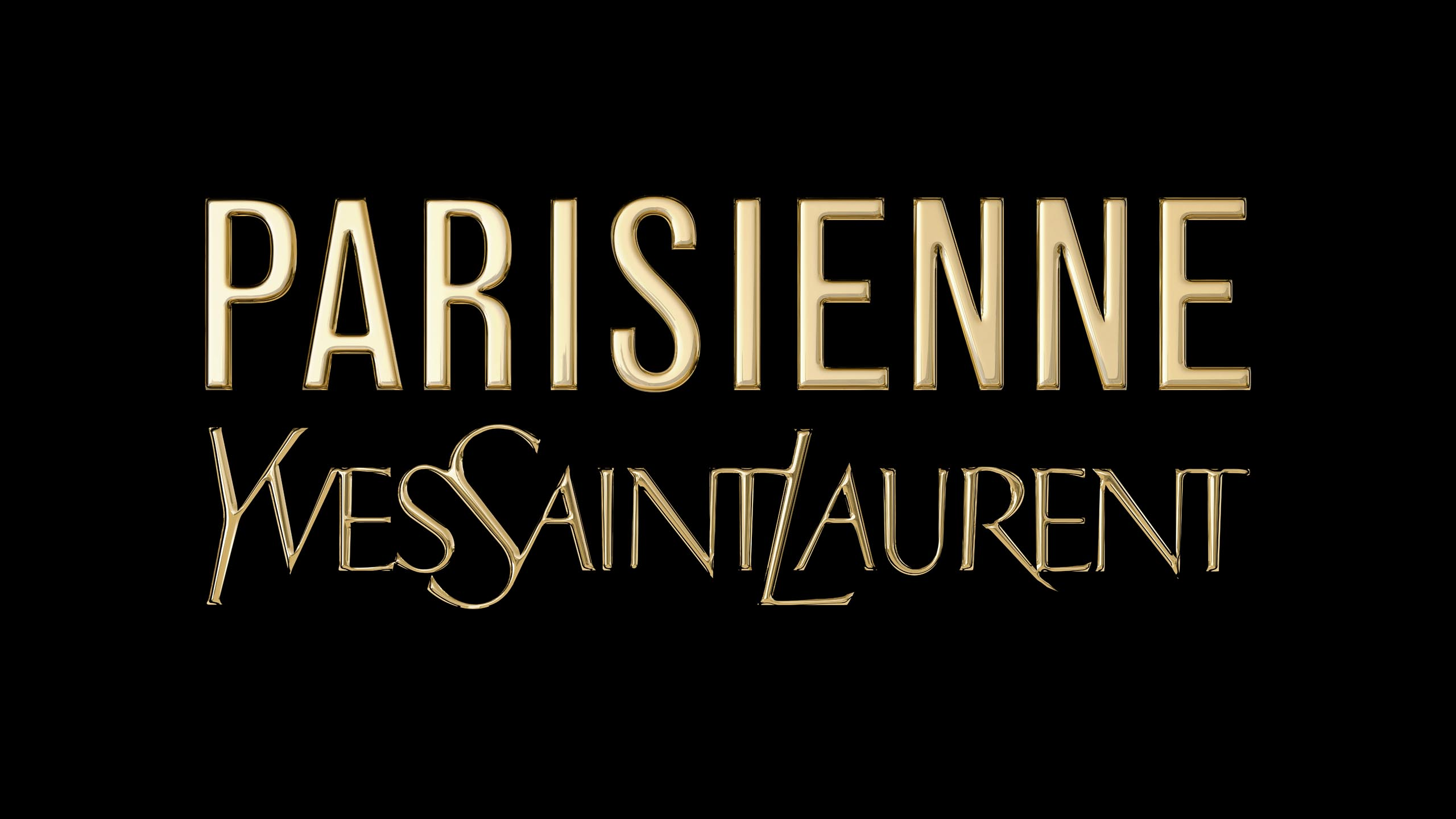 3D-logo for Yves Saint Laurent's Pariesienne
