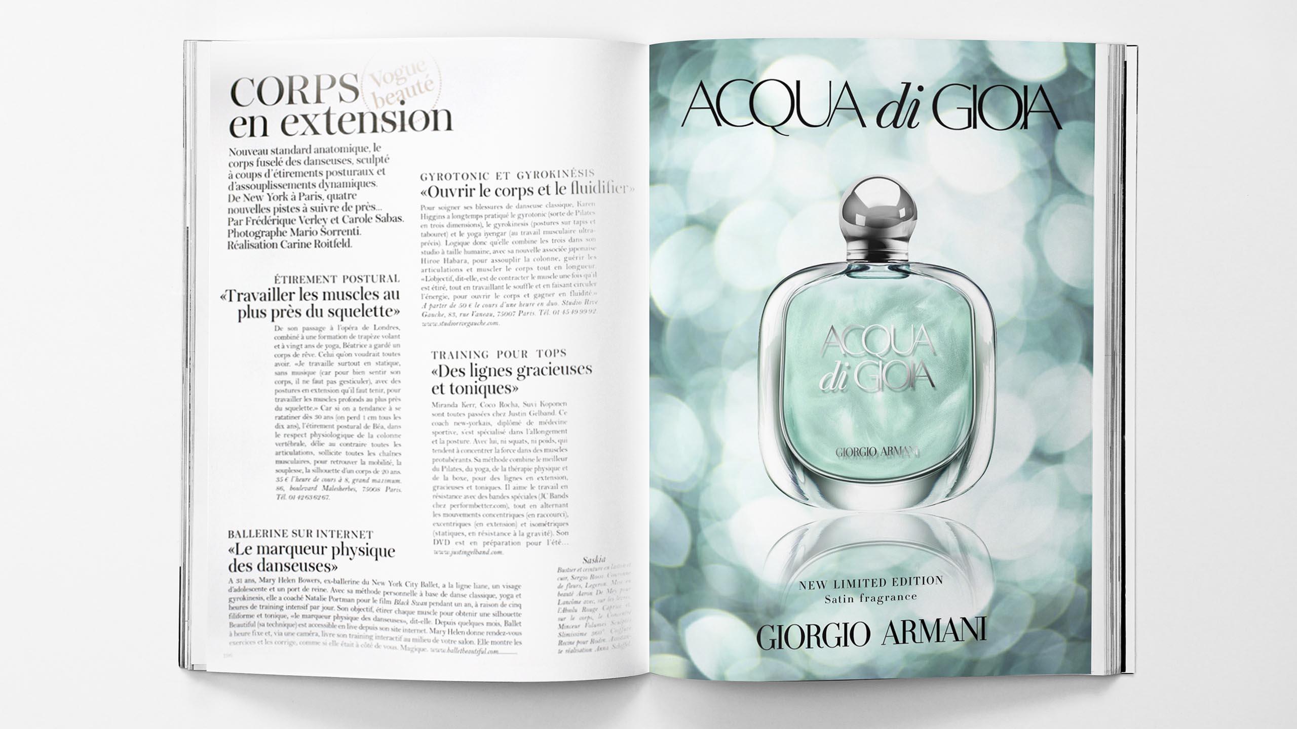 Satin Edition of Giorgio Armani's Essenza perfume