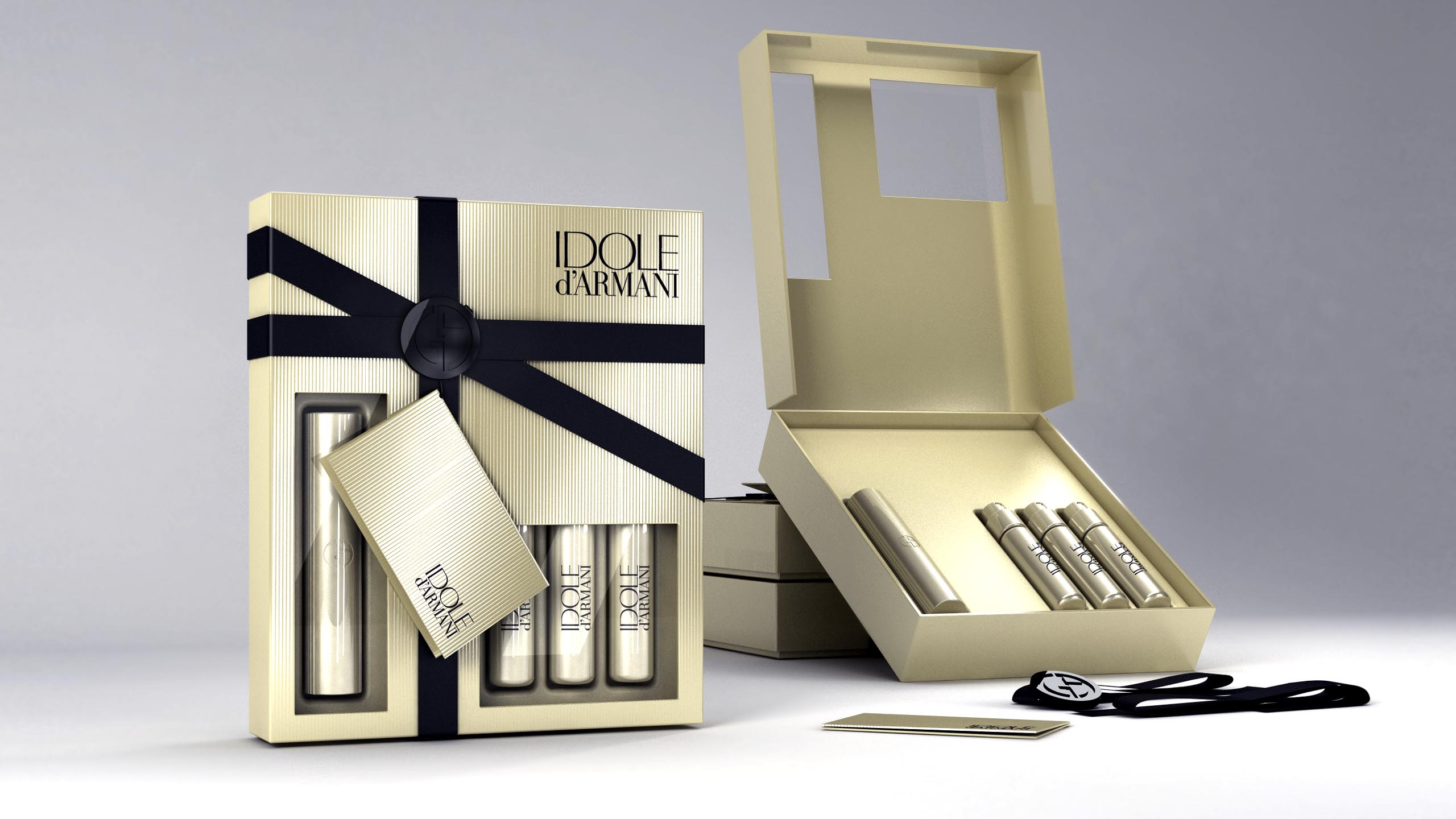 packaging study for Armani Idole