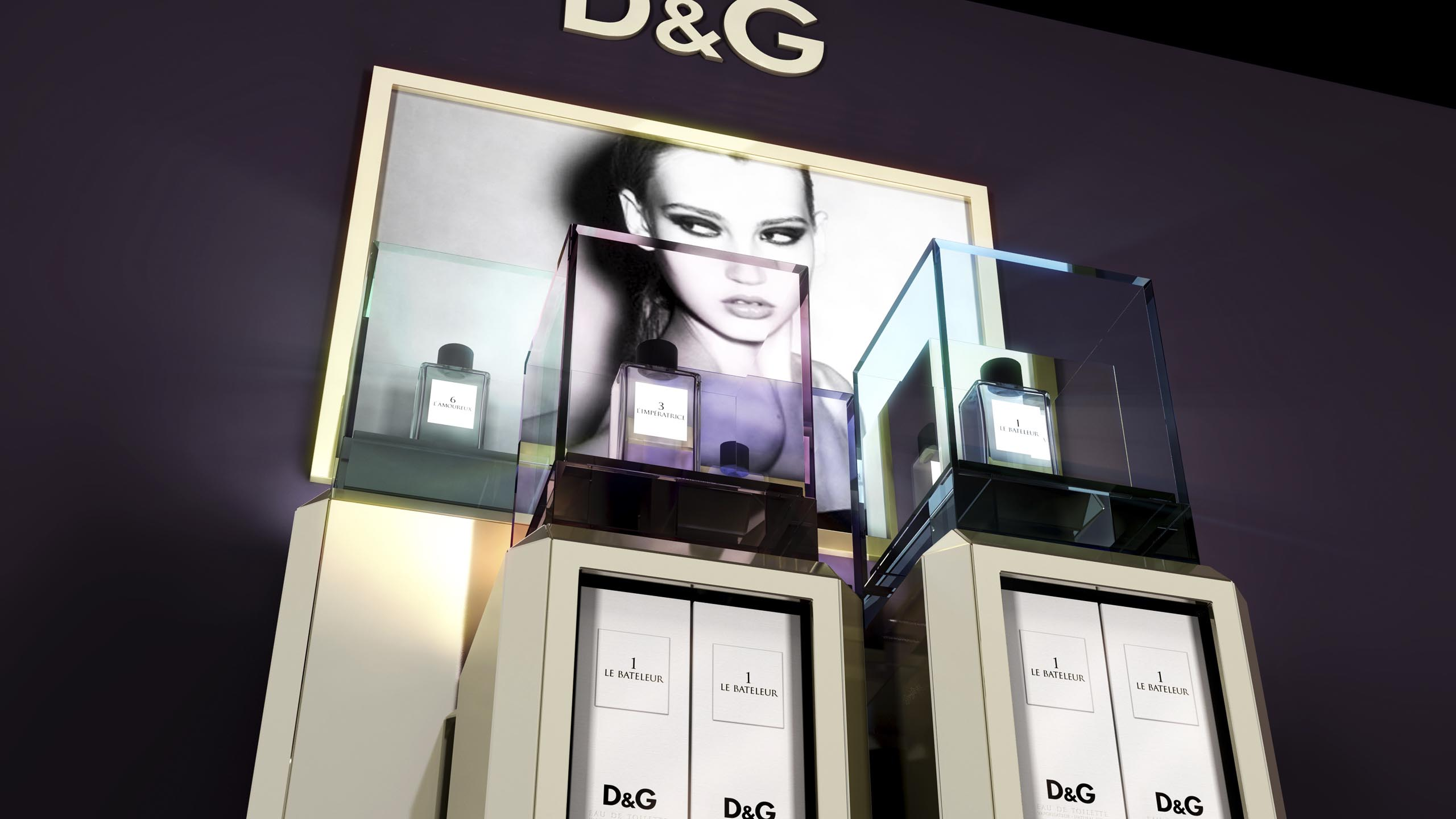 luxury POS study  D&G Anthology by janvonborstel-studios