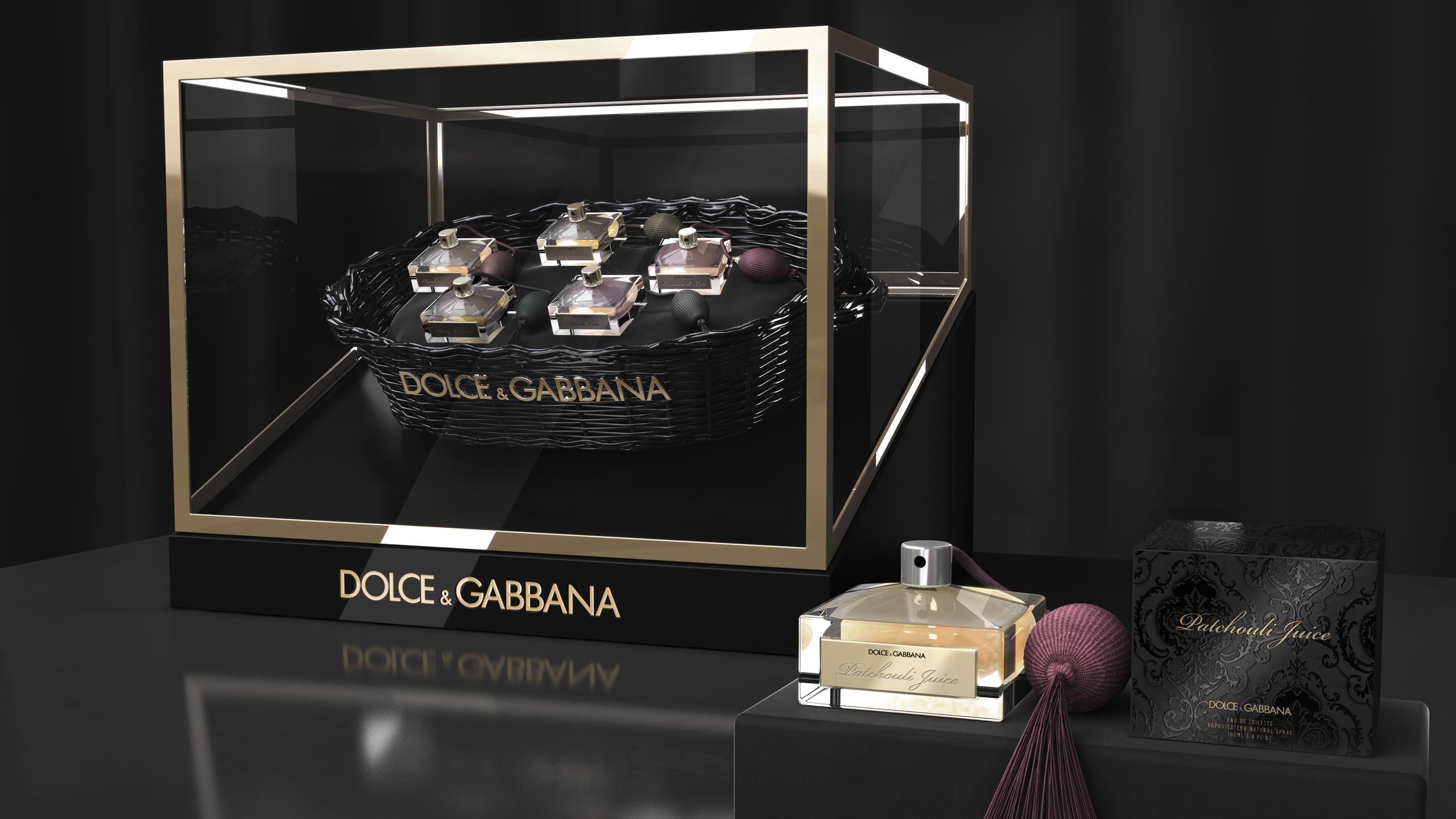 luxury branding for Dolce & Gabbana's limited Velvet Collection