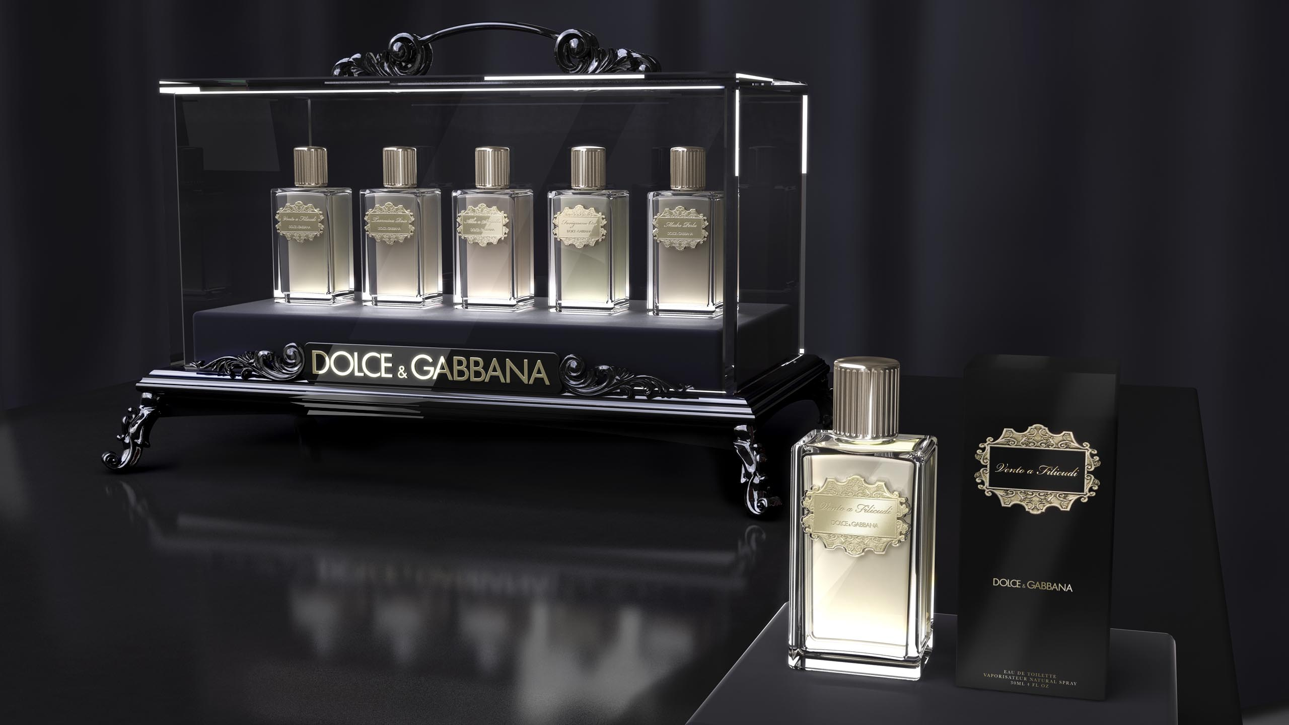 luxury branding for Dolce & Gabbana's limited Velvet Collection