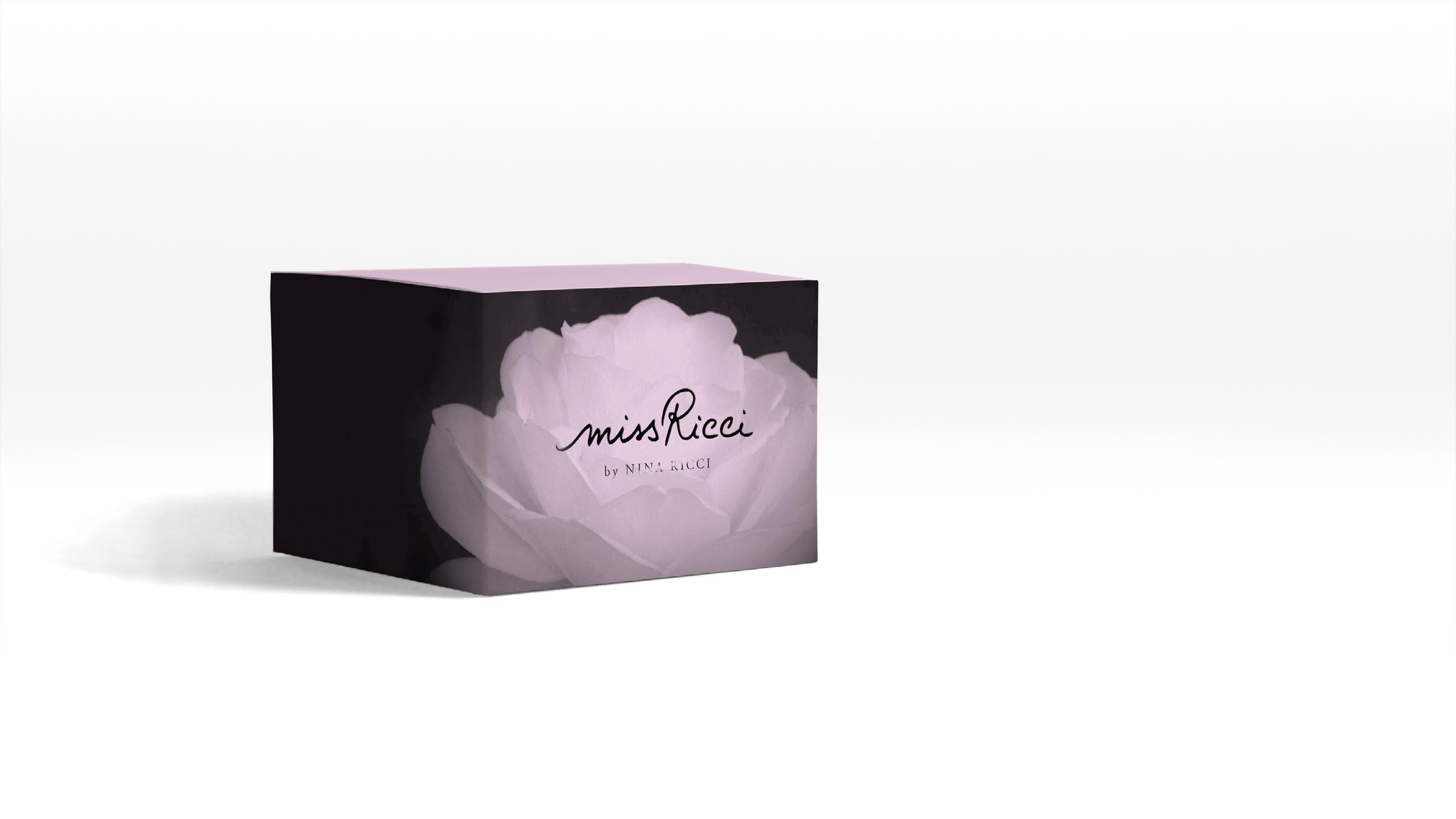 brand product design study for Nina Ricci perfume